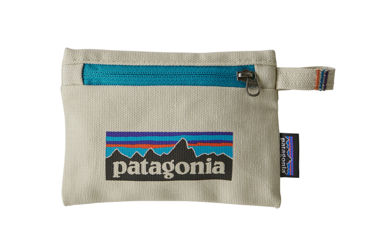 Patagonia Small Zippered Pouch - P-6 Logo Bleached Stone
