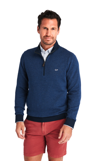 Vineyard Vines Hamilton 1/2-Zip Sweater - Deep Bay