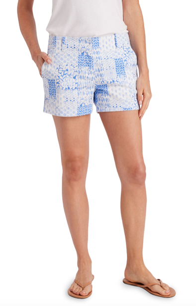 Vineyard Vines Painted Patchwork 3.5 Inch Every Day Shorts - Hydrangea
