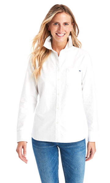 Vineyard Vines Chilmark Relaxed Oxford Button Down - White Cap