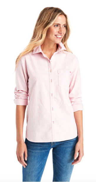 Vineyard Vines Chilmark Relaxed Oxford Button Down - Paradise Pink