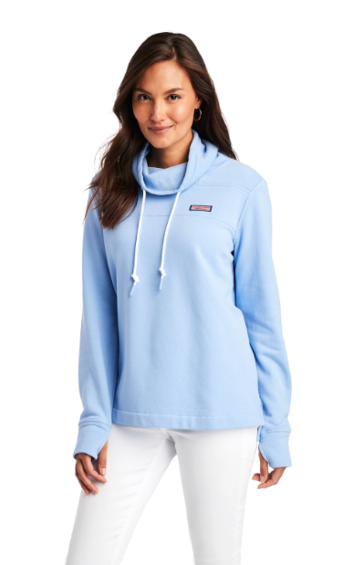 Vineyard Vines Garment-Dye Relaxed Funnel Neck Shep Shirt - Hydrangea