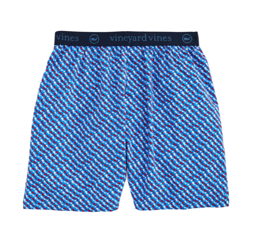 Vineyard Vines Printed Boxers - Azure Blue