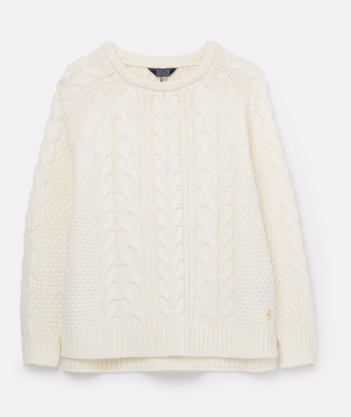 Joules Dawson Cable Sweater - Cream