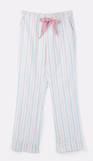 Joules Snooze Woven Pajama Bottoms - Multi Stripe