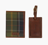 Barbour Tartan Passport Cover and Luggage Tag Gift Set - Classic Tartan