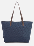 Barbour Witford Quilted Tote - Navy