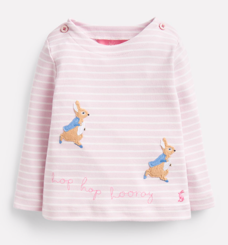 Joules Harriet Official Peter Rabbit Collection Applique Top - Hopping Peter