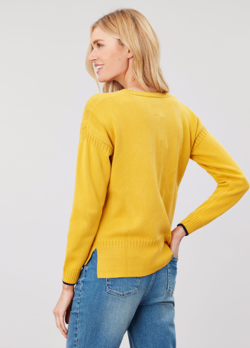 Joules Luciana Boxy Sweater - Antique Gold