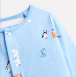 Joules Ziggy Printed Babygrow with Feet - Polar Animals
