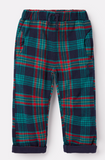 Joules Joe Brushed Woven Pants - Navy Multi Check