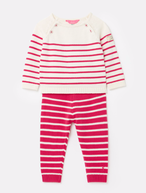 Joules Georgia Knitted Top and Trousers Set - Pink