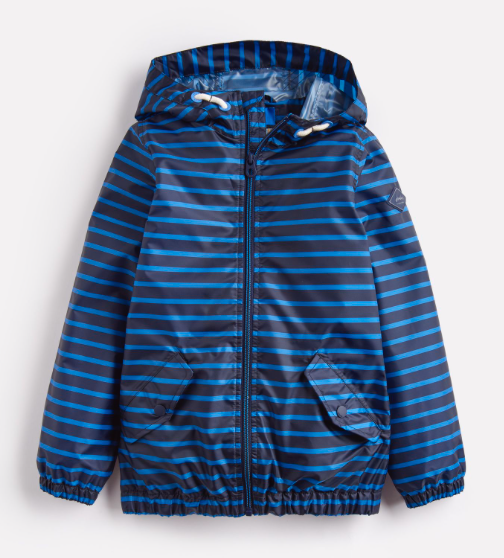 Joules Children's Rowan Waterproof Jacket - Navy Blue Stripe