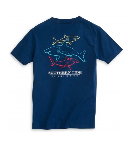 Southern Tide Kids Three Best Fins T-Shirt