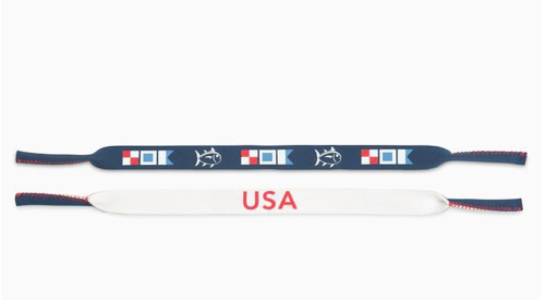 Southern Tide USA Nautical Flags Sunglass Strap