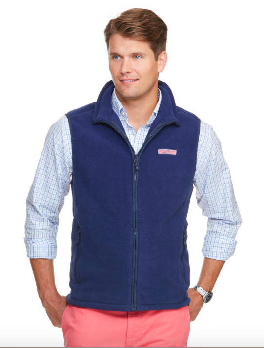 Front view Vineyard Vines Fleece Harbor Vest