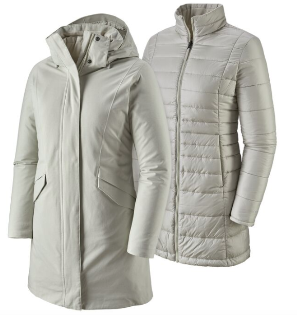 Patagonia Women's Vosque 3-In-1 Parka - Dyno White
