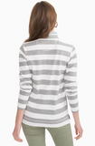 Southern Tide Waylon Striped Pullover - Heather Grey