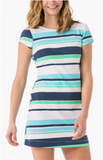 Mahi Gold Addie Dress - Candy Stripe Lagoon