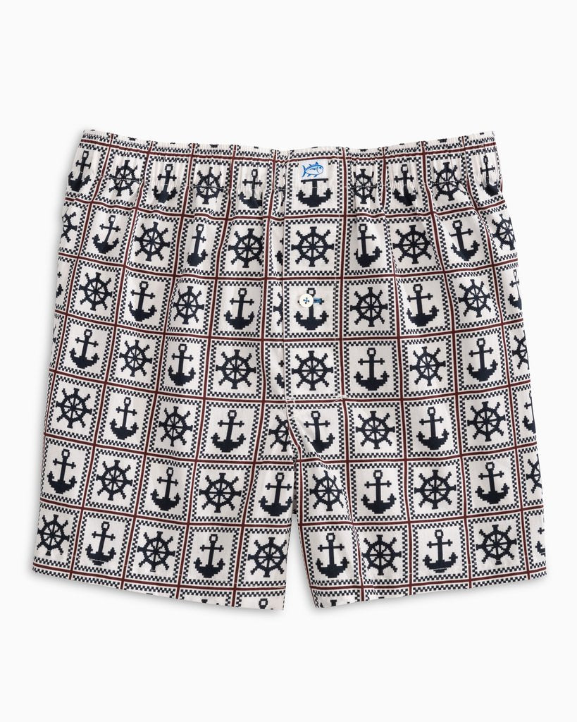 Southern Tide Men's Ahoy There Boxer Shorts - Coconut