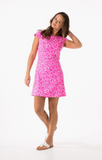 Mahi Gold Annie Dress - Sea Glass Palm Pink