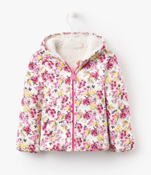 Joules Baby Cosette Reversible Fleece - Cream Ditsy