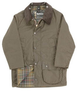 Barbour Children's Beaufort Jacket in Olive or Navy