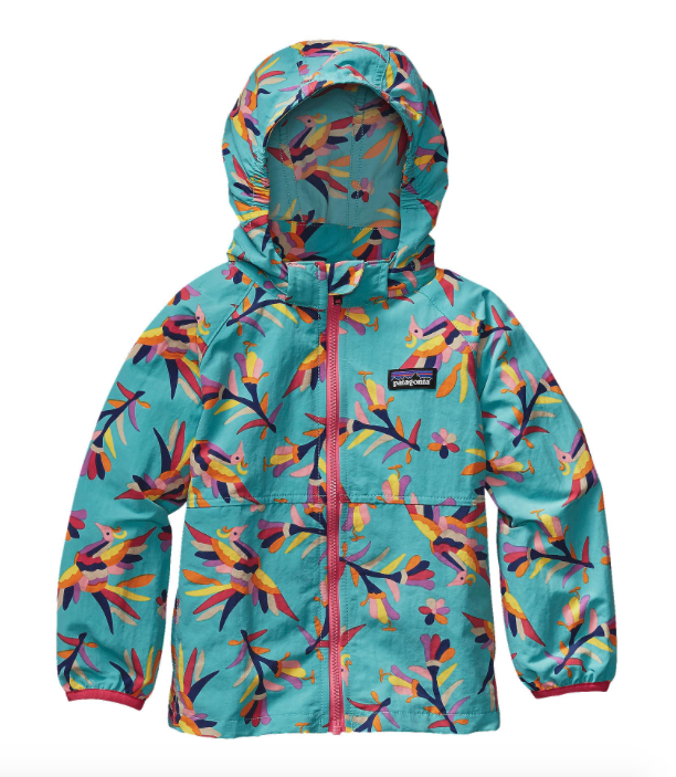 Patagonia Baby Baggies Jacket - Folk Tails Howling Turquoise