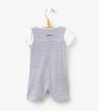 Joules Baby Duncan Jersey Dungarees And T-Shirt Set - Bright White Stripe