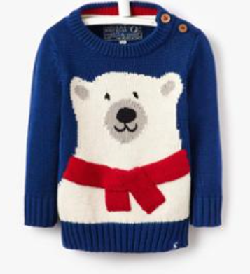 Joules Baby Bear Intarsia Sweater - French Navy