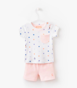 Joules Baby Lundy Jersey T-Shirt And Short Set - Mermaid