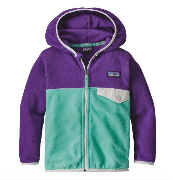 Patagonia Baby Micro D® Snap-T® Fleece Jacket - Galah Green
