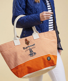 Barbour Beacon Beachbag - Marigold/Ecru Stripe
