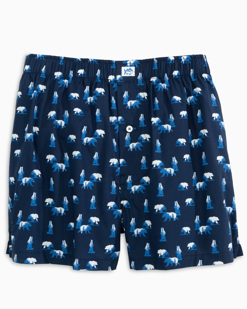 Southern Tide Bearly Awake Boxer Short - True Navy