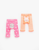 Joules Baby Girl Twin Pack Leggings - Cat and Mouse