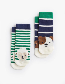 Joules Baby Boy Character Socks - Sheep Dog