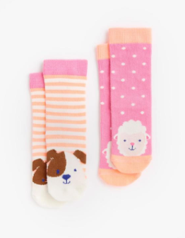 Joules Baby Character Socks - Sheep Dog