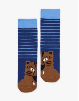 Joules Boy's Character Bamboo Socks - Tiger