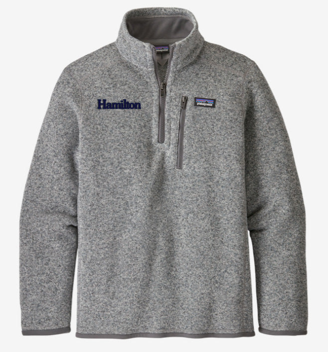 Hamilton Children's Better Sweater Quarter Zip for Boys - Grey