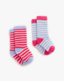 Joules Baby Girl's Fleece Socks - Sky Blue