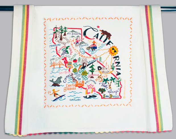 Catstudio California Dishtowel