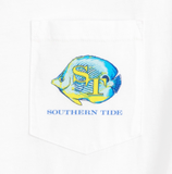Southern Tide Caribbean Fish T-Shirt - Classic White