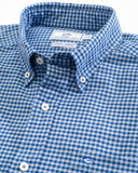 Southern Tide Channel Marker Gingham Sport Shirt - Hurricane Blue
