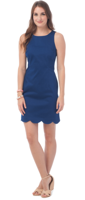 Southern Tide Charleston Scallop Dress - Yacht Blue