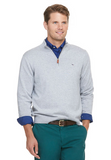 Vineyard Vines Cotton 1/4-Zip - Minnow Grey