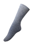 Alpaca Crew Socks - Grey Heather