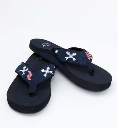 Vineyard Vines Crossed Fishbone Flip Flops