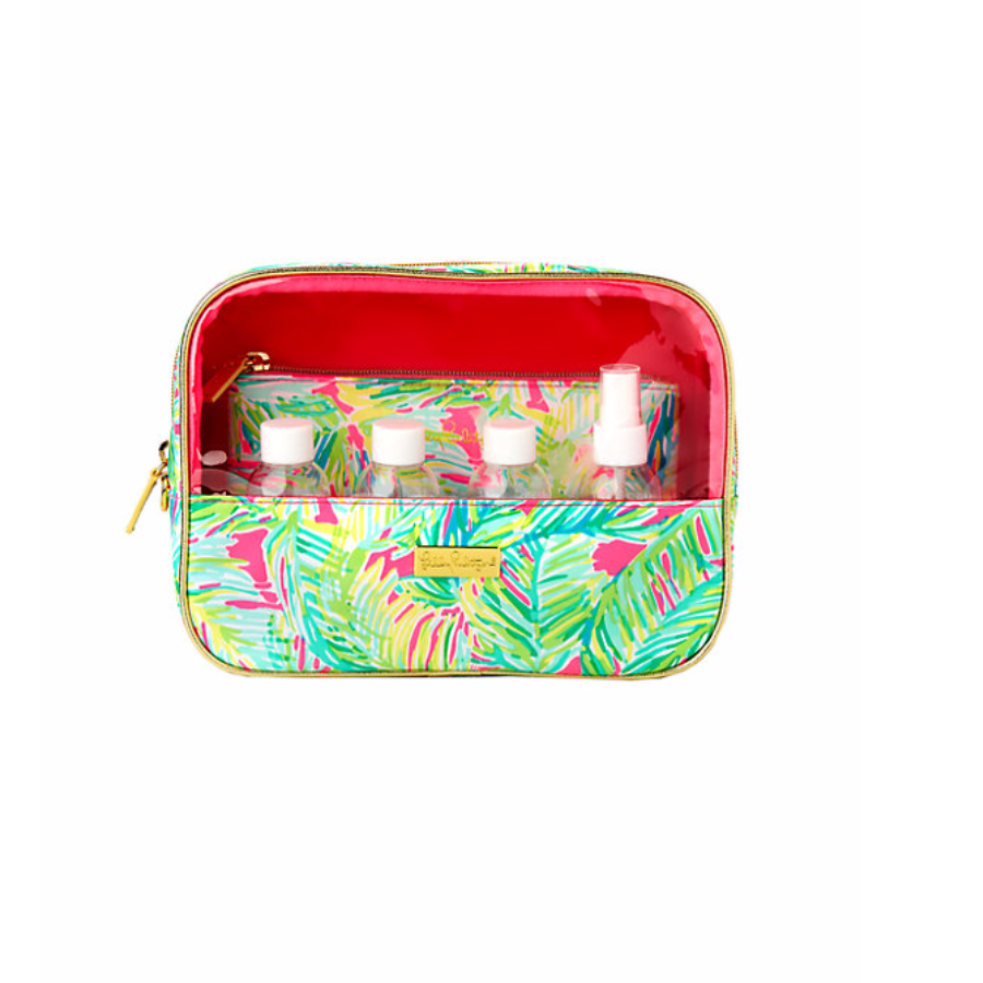 Lilly Pulitzer On Board Dopp Kit - Tropical Pink Tropical Storm
