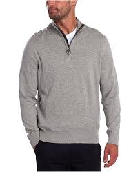 Barbour Tain Half Zip Sweater - Grey Marl
