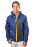 Southern Tide Downport Rain Slick in Blue Night on model